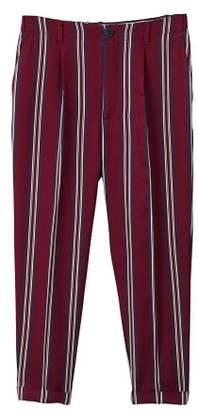 MANGO Striped crop trousers