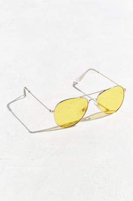 Urban Outfitters Yellow Lens Classic Aviator Sunglasses