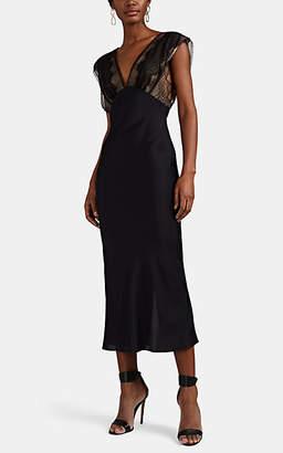 Victoria Beckham Women's Lace-Detailed Midi-Dress - Black