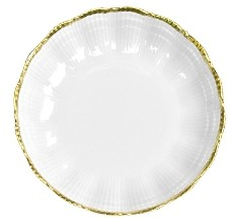 Medard De Noblat Medard de Noblat Corail Or Coupe Dessert Plate