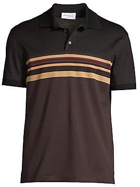 Salvatore Ferragamo Men's Multi-Stripe Polo