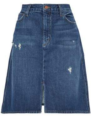 J Brand Distressed Denim Skirt