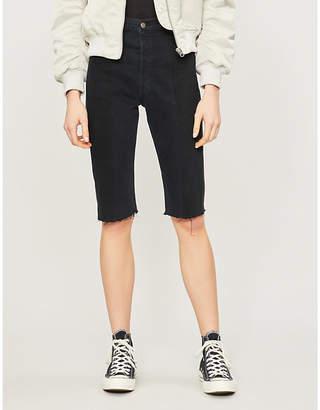 1e5958c1e18 E.L.V. DENIM The Twin high-rise denim shorts
