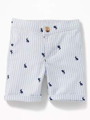 Old Navy Patterned Rolled-Cuff Oxford Shorts for Baby
