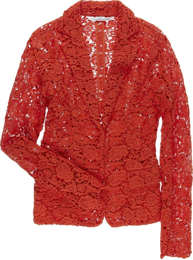 Diane von Furstenberg Sammy crochet blazer