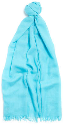 Johnstons of Elgin Blue Lightweight Cashmere Scarf