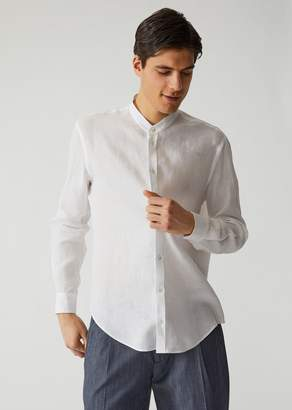 Emporio Armani Linen Canvas Shirt