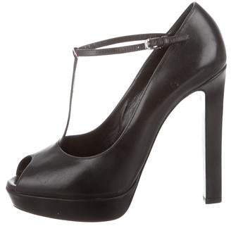 Saint Laurent T-Strap Platform Pumps