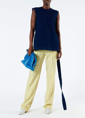 Tibi Marvel Plaid High Waisted Sebastian Pant