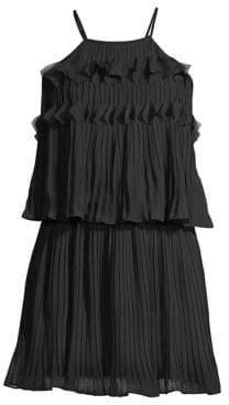 Ramy Brook Shauna Tiered Plisse Mini Dress