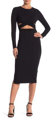 Dee Elly Cutout Long Sleeve Midi Dress