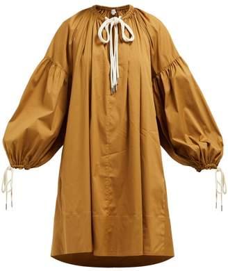 Lee Mathews - Elsie Cotton Blend Tunic Dress - Womens - Light Brown