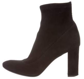 Barneys New York Barney's New York Suede Round-Toe Boots Black Barney's New York Suede Round-Toe Boots
