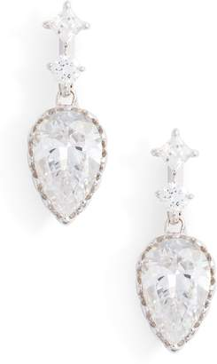 Nadri Georgian Cubic Zirconia Drop Earrings