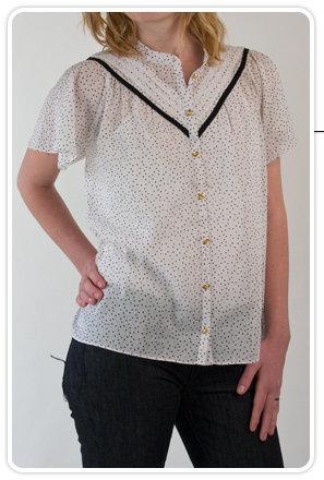 Charlotte Ronson Bell Sleeve Shirt