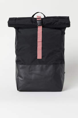 H&M Backpack with Roll-top Opening - Black