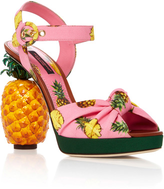 Dolce & Gabbana Pineapple Sandals $1,995 thestylecure.com