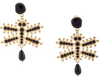 Etro dragonfly earrings