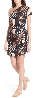 Women's Trouve One-Shoulder Minidress $89 thestylecure.com