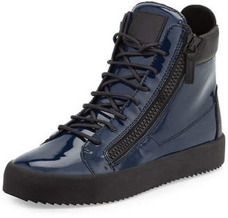 Giuseppe Zanotti Men's Patent High-Top Sneakers