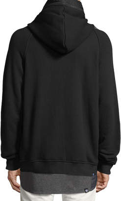 Mostly Heard Rarely Seen Cotton Hoodie with Logo Taping