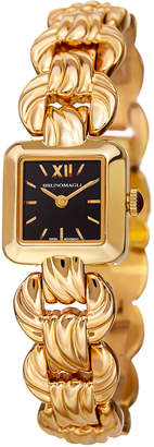 Bruno Magli 20mm Mira Petite Golden Square Watch w/ Bracelet Strap