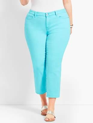Talbots Garment-Dyed Colored Denim Straight Leg Crop