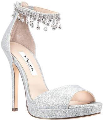 Nina Silver Platform Women s Sandals - ShopStyle b3b88d22ea