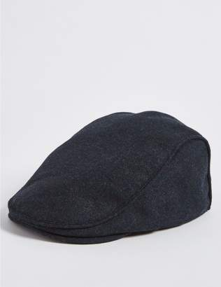 Marks and Spencer Wool Blend Flat Cap with Stormwear
