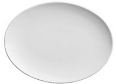White Oval Coupe Platter