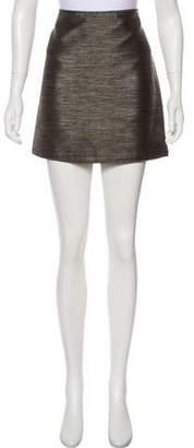 Burberry Mini Metallic Skirt