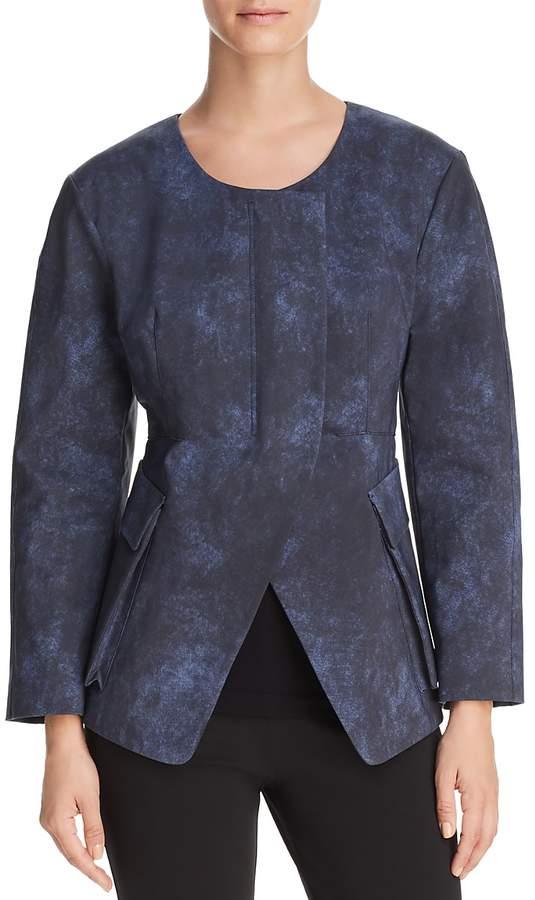 Collarless Split-Front Jacket