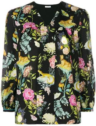 Vilshenko floralprint blouse