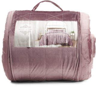 Velvet Quilted Comforter Set