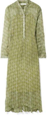 Cloe Cassandro - Andrea Printed Silk-crepon Maxi Dress - Light green
