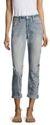 True Religion Cameron Grommet-Embellished Boyfriend Jeans $249 thestylecure.com