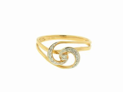 Ylang|23 Tiny Diamond Coil Ring in Yellow Gold