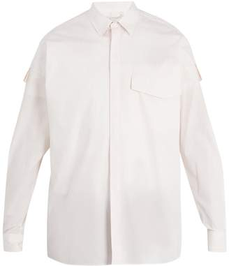 Stella McCartney Point-collar checked cotton shirt
