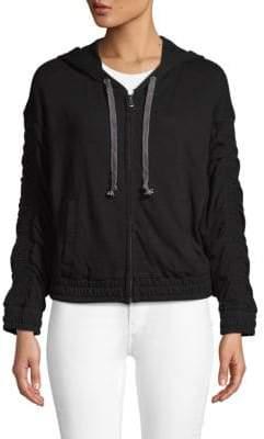 Hooded Zip Cotton Jacket