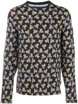 Moschino printed long sleeved T-shirt