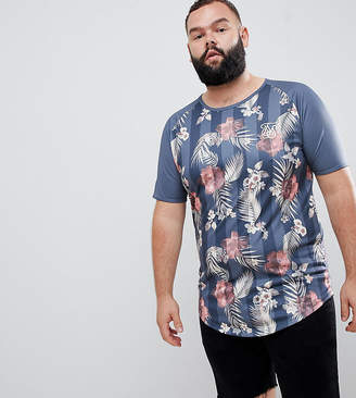 SikSilk muscle fit t-shirt in floral print exclusive to ASOS