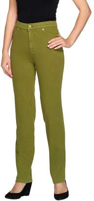 Isaac Mizrahi Live! Knit Denim Straight Leg Jeans