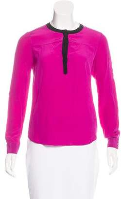 Diane von Furstenberg Long Sleeve Silk Blouse