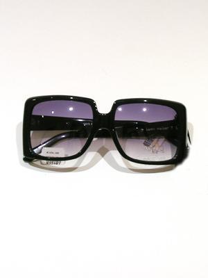 KAREN WALKER black oversized square sunglasses