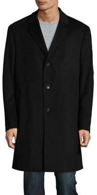 Black & Brown Black Brown Cashmere Car Coat