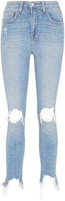 L'Agence 'High Line' ripped knee skinny jeans