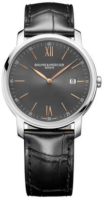 Baume & Mercier BAUME AND MERCIER Classima Leather Strap Watch, 42mm