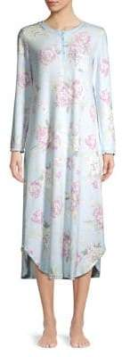 Miss Elaine Floral Long-Sleeve Nightgown