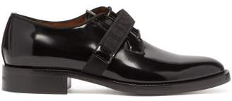 Givenchy Cruz Velcro Fastening Leather Derby Shoes - Mens - Black