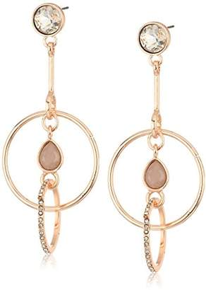 GUESS Womens Spring Whites Post Drop Earrings with Stones